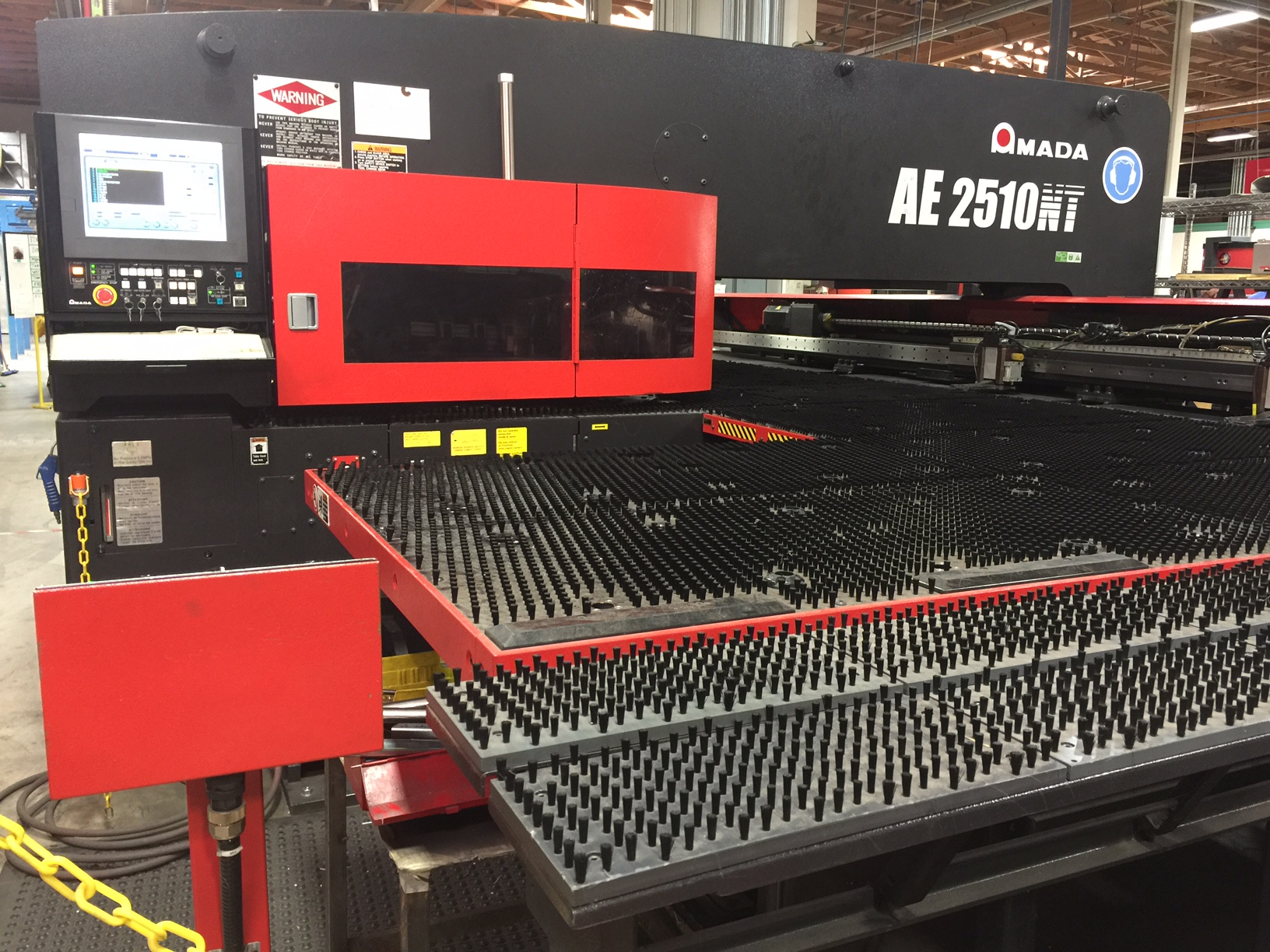 Amada Punch AE 2510NT at Integrated Metal Components, Inc